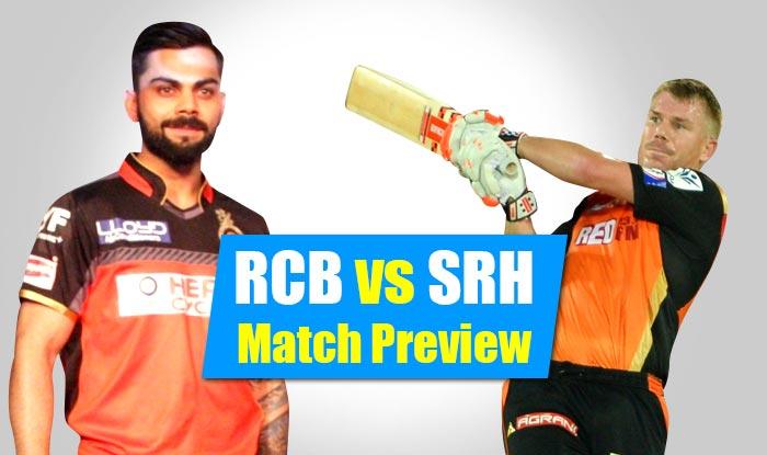 आईपीएल 9 : रॉयल चैलेंजर्स बैंगलोर बनाम सनराइजर्स हैदराबाद मैच प्रीव्यू