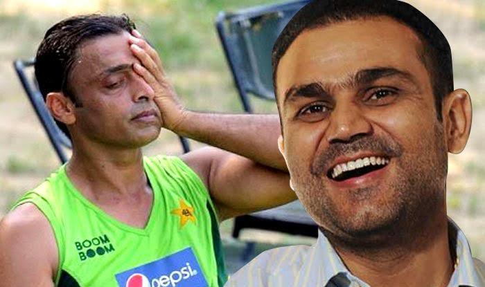 वीरेंद्र सहवाग ने उड़ाया पाकिस्तान के पूर्व गेंदबाज शोएब अख्तर का मजाक 5