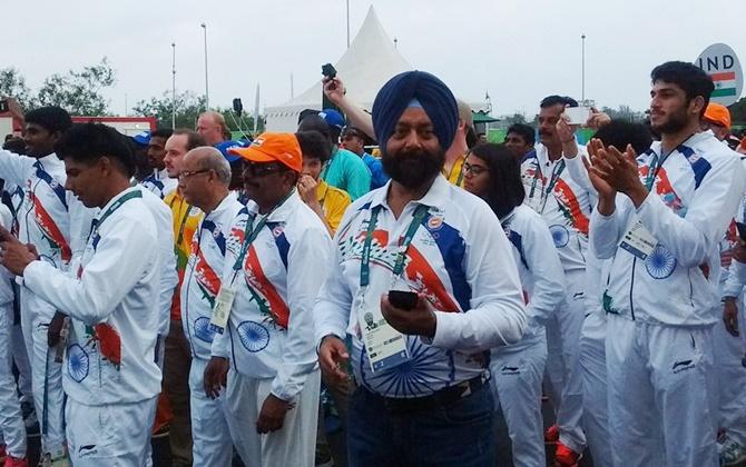 भारतीय ओलम्पिक दल का खेल गांव में स्वागत 1