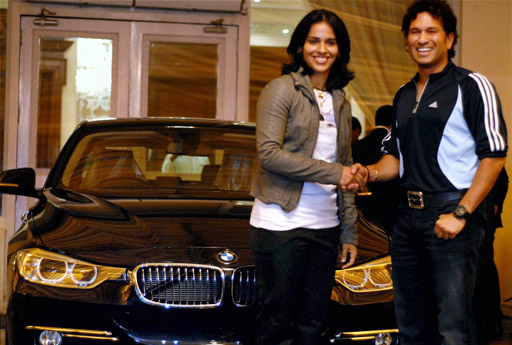 saina nehwal with sachin tendulkar