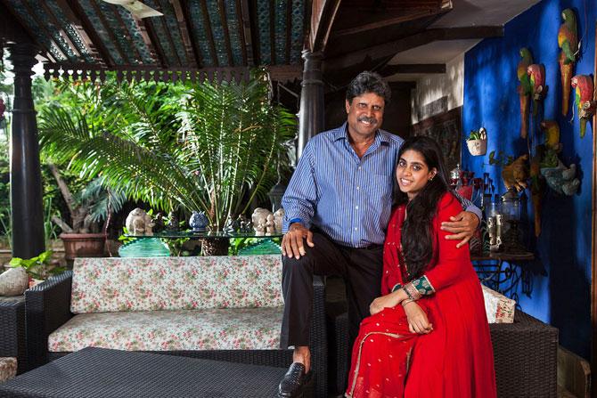 kapil dev with his daughter
