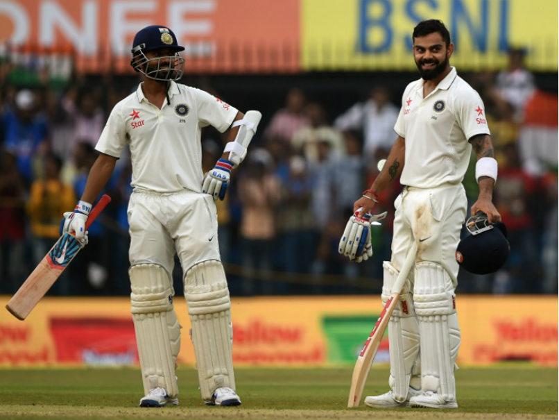 इंदौर टेस्ट : कोहली, रहाणे की बदौलत भारत मजबूत (267/3) 1