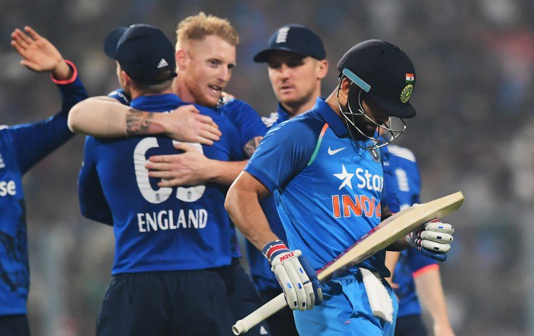 कोलकाता एकदिवसीय : इंग्लैंड से 5 रन से हारा भारत 1