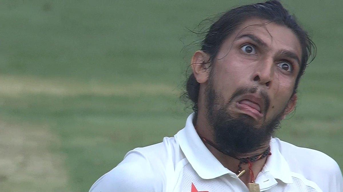 ईशांत शर्मा के फेशिअल एक्सप्रेशन पर कमेंटेटर्स ने बनाये अजीब अजीब तरह के चेहरे, देखे विडियो 6