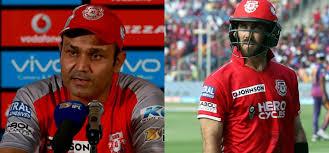 किंग्स XI पंजाब की शर्मनाक हार के बाद कप्तान मैक्सवेल सहित सभी विदेशी बल्लेबाजों पर जमकर फूटा सहवाग का गुस्सा लगाई कड़ी फटकार 10