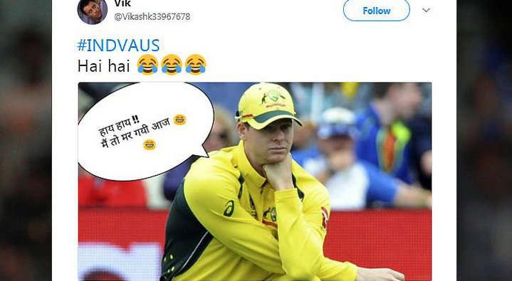21 ओवर में भी आसान सा लक्ष्य हाशिल न कर पाने की वजह से कुछ यूजर्स ने ऑस्ट्रेलिया के लिए किया ऐसे ट्वीट देख नहीं रुकेगी शाम तक हँसी 5