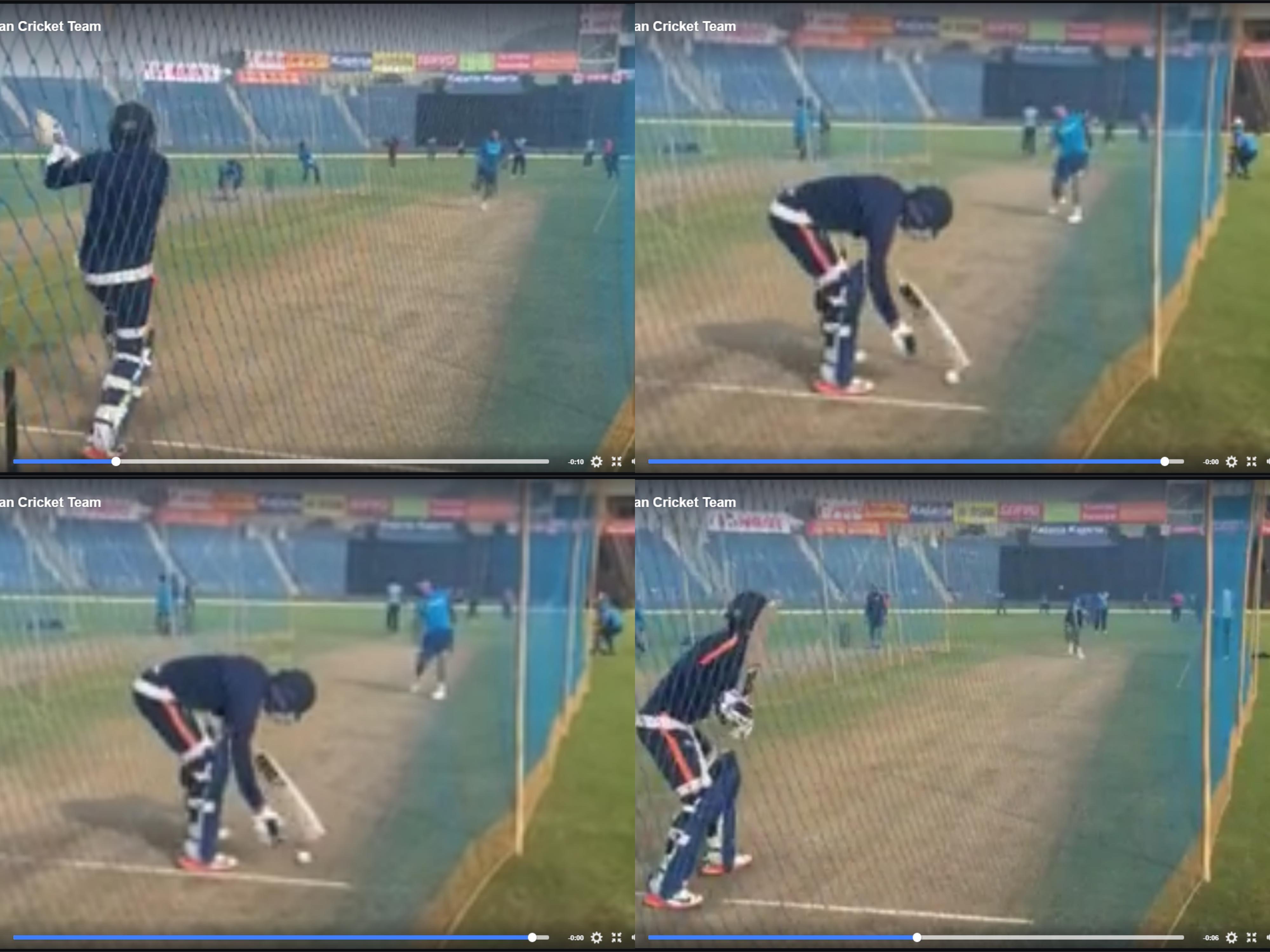 वीडियो: धोनी ने दिखाया गेंदबाजी में भी जौहर, मनीष पाण्डेय को बोल्ड कर अभ्यास के दौरान कुछ इस अंदाज में मनाया जश्न 1