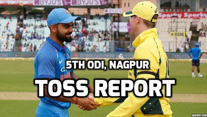 INDvAUS: नागपुर वनडे: ऑस्ट्रेलिया ने टॉस जीता पहले बल्लेबाजी करने का फैसला किया, टीम में हुए बड़े बदलाव