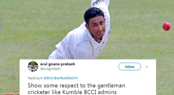 बीसीसीआई ने अनिल कुंबले को दी जन्मदिन की बधाई लेकिन किया ऐसे शब्द का प्रयोग लोगो ने बताया बीसीसीआई को विराट का गुलाम 5