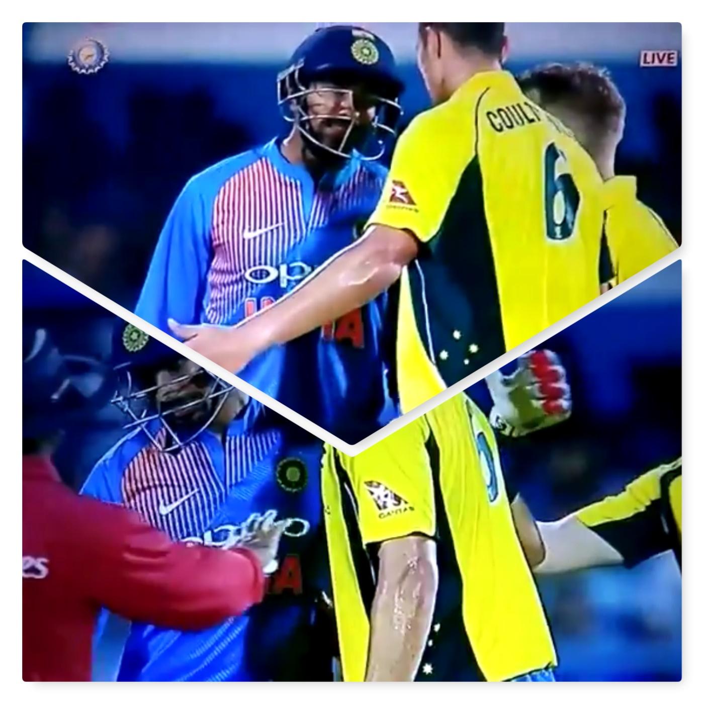 दूसरा टी-20: कलंकित होते बचा भद्रजनों का खेल कहा जाने वाला क्रिकेट..भारतीय बल्लबाज से भिड़ गये नेथन कुल्टर नाइल