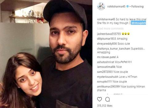 श्रीलंका के खिलाफ पहले टेस्ट से पहले पत्नी ऋतिका सजदेह के लिए रोहित शर्मा ने किया ये भावुक मैसेज 1