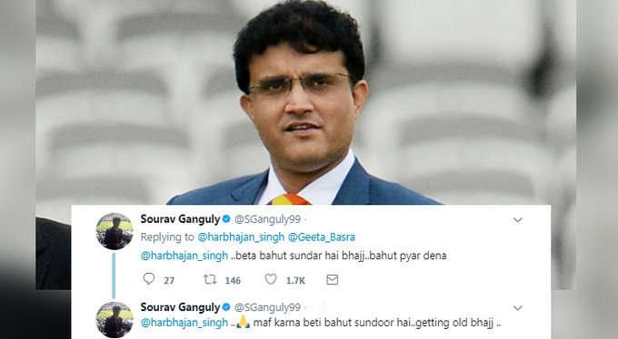 सौरव गांगुली ने हरभजन सिंह की फैमली पर कर दिया ऐसा ट्वीट की मांगनी पड़ गयी माफी, अब हरभजन ने भी दिया गांगुली को जवाब 2
