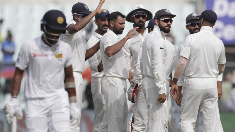 कोलकाता टेस्ट : भोजनकाल तक श्रीलंका के 263/8 विकेट, भारत की हालत और खराब 14