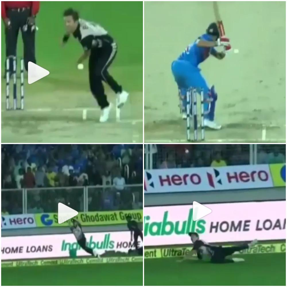 वीडियो : कल सैंटनर और ग्रैंडहोम ने पकड़ा इस साल का सर्वश्रेष्ठ कैच, भारतीय खिलाड़ी भी रह गये हैरान
