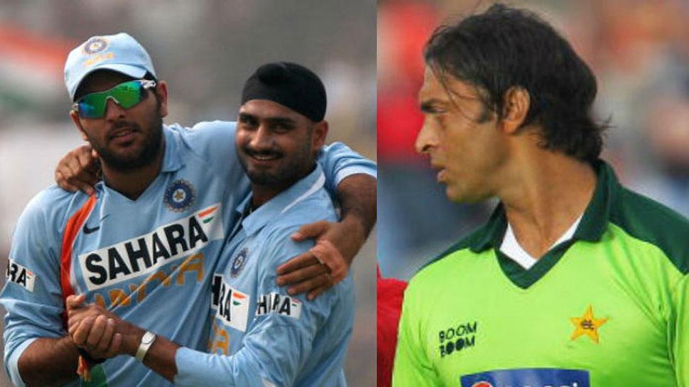 सोशल मीडिया पर छिड़ी भारत और पाकिस्तानी खिलाड़ियों के बीच वार, युवी के बाद अब भज्जी ने भी उड़ाया शोएब अख्तर का माजक 8
