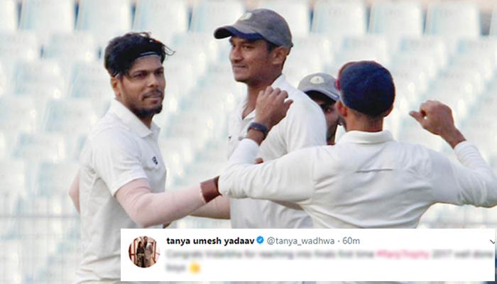 विदर्भा के फाइनल में पहुंचने के बाद ख़ुशी से पागल हुई तान्या उमेश यादव, बड़े ही खास अंदाज में दी टीम को जीत की बधाई 9