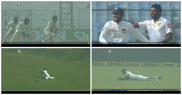 वीडियो: दिल्ली टेस्ट में श्रीलंकाई खिलाड़ी के साथ हुआ ये दुर्भाग्यपूर्ण हादसा आउट होने से बच जाते शिखर धवन