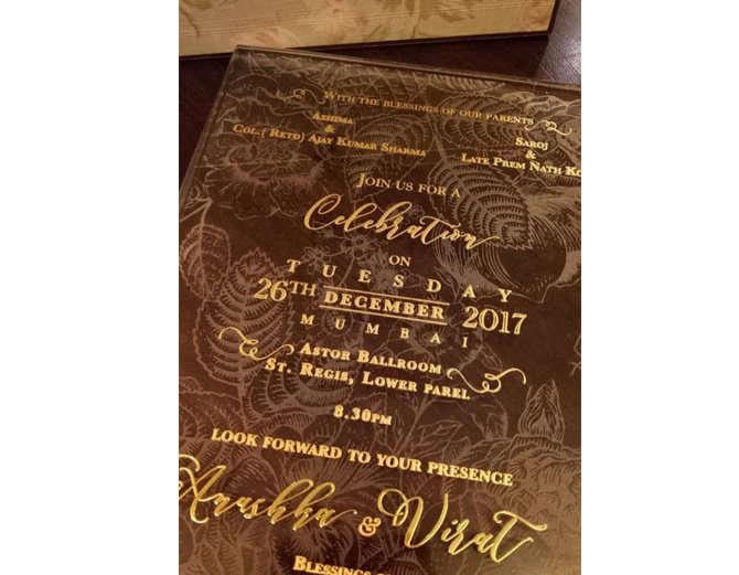 26 दिसम्बर को होना है मुंबई में विराट-अनुष्का का रिसेप्शन, लेकिन रिसेप्शन कार्ड में ये क्या निकला? 2