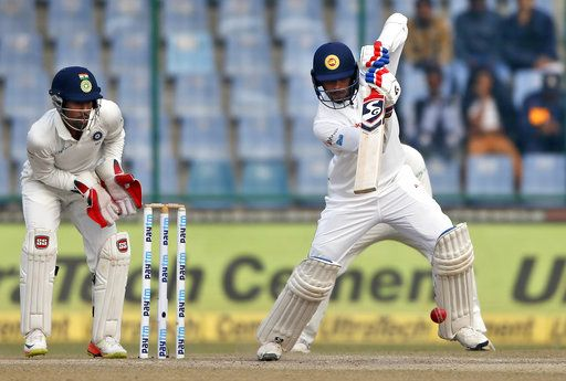 dhananjaya de silva plays a shot during the fifth day of their third test against india ap 1512540321
