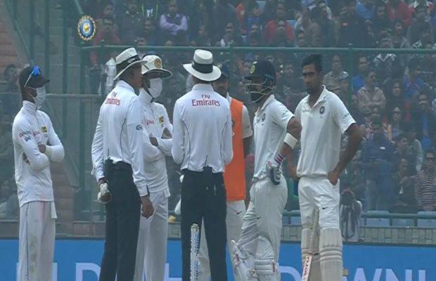 श्रीलंकाई टीम के ड्रामे और विराट कोहली के आउट के बाद भारतीय प्रसंशको ने श्रीलंका टीम को दिया ये नाम 8