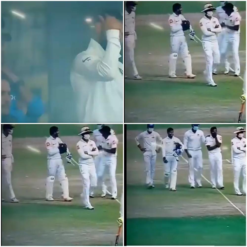 श्रीलंकाई टीम के ड्रामे और विराट कोहली के आउट के बाद भारतीय प्रसंशको ने श्रीलंका टीम को दिया ये नाम 7