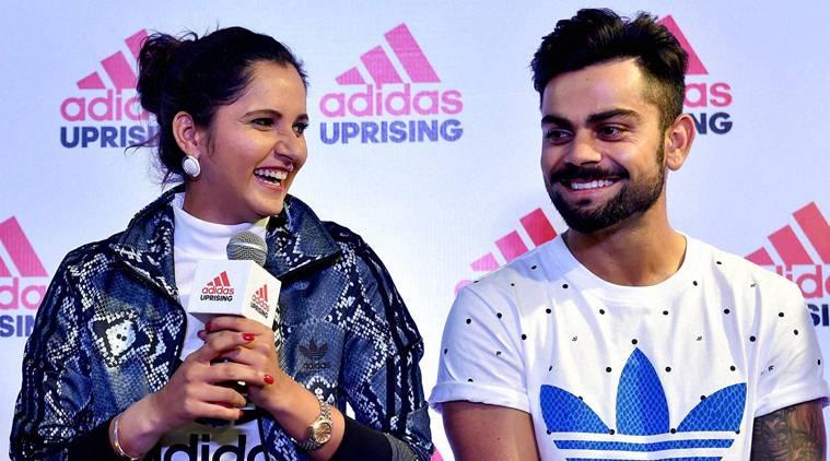Virat Kohli,Tennis Star Sania Mirza