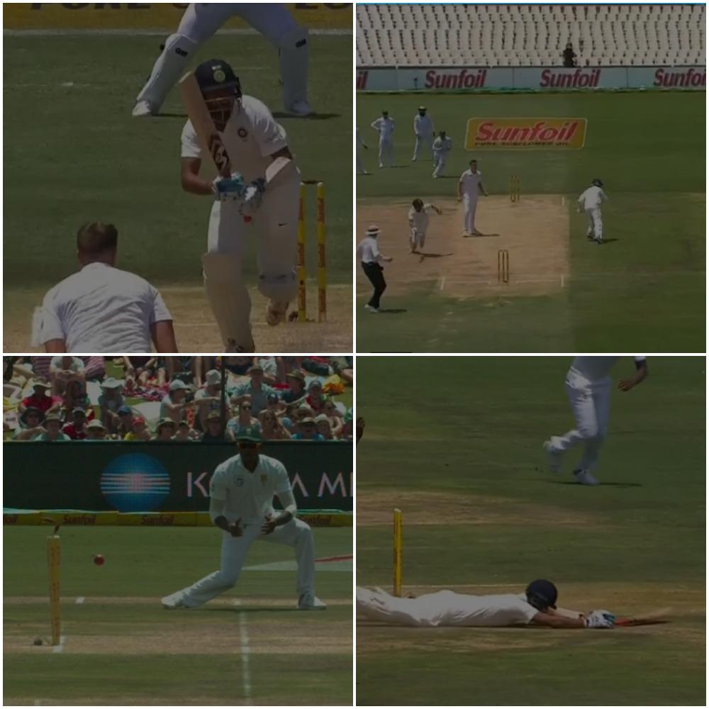 वीडियो : 9.4 ओवर में डेब्यू कर रहे लुंगी नागीदी ने किया चेतेश्वर पुजारा को ऐसा रन आउट, कि सर पकड़ कर मैदान पर ही लेट गये पुजारा