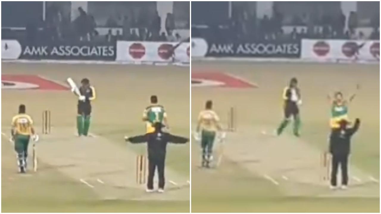 VIDEO: क्रिकेट जगत में अम्पायर का ऐसा इशारा आपने कभी नहीं देखा, देख शाम तक नहीं रुकेगी आपकी हंसी 18