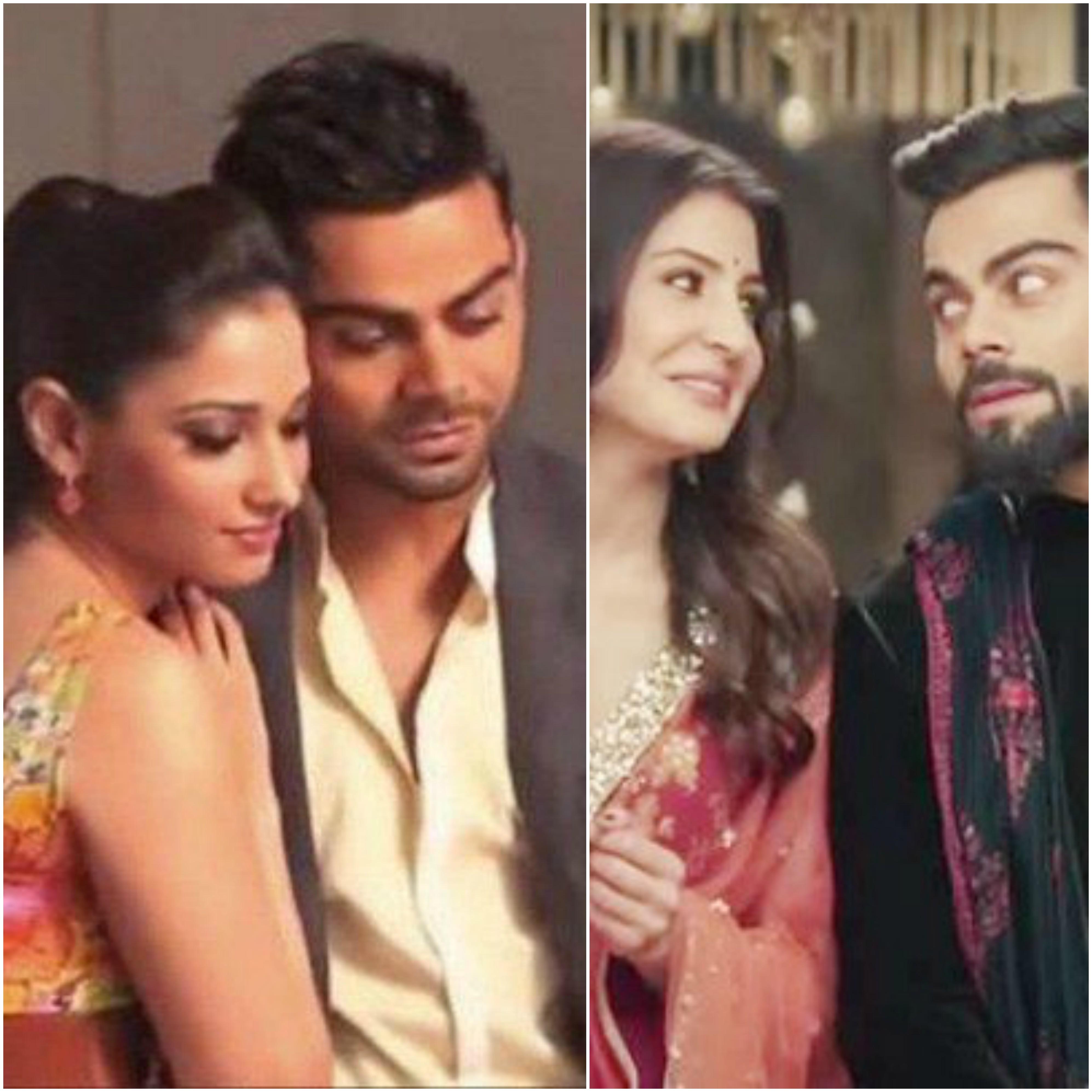 Virat kohli affair with bahubali actress before anushka love