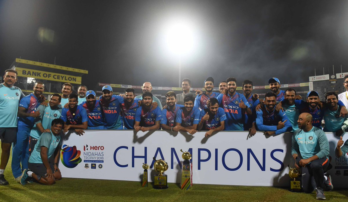 टीम इंडिया के निदहास ट्रॉफी जीतने के बाद ख़ुशी से गदगद हुई बीसीसीआई, रोहित एंड कम्पनी की जमकर हो रही हैं तारीफ