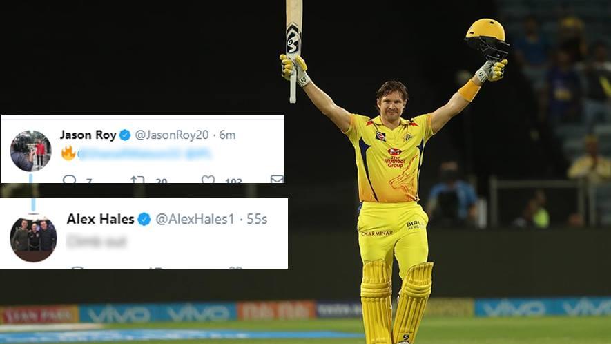 किसने क्या कहा: वाॅटसन की धमाकेदार शतकीय पारी के फैन हुए एलेक्स हेल्स समेत कई दिग्गज क्रिकेटर, सोशल मीडिया पर मिल रही बधाईयाँ 23