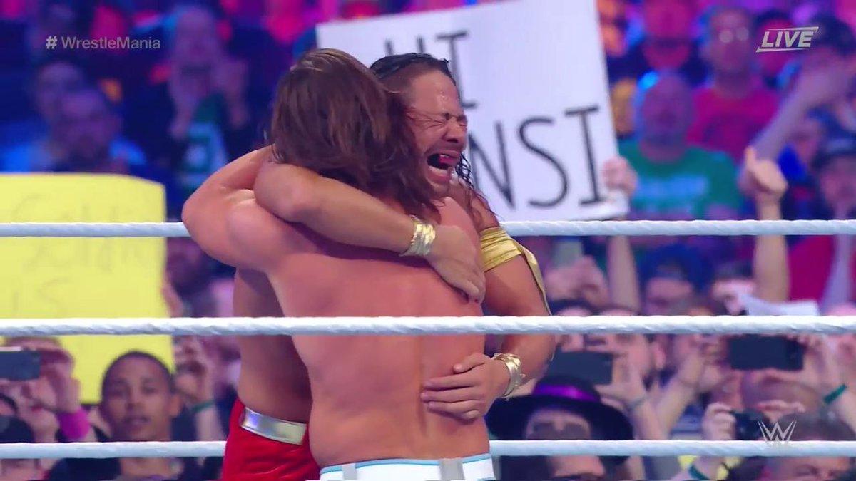 WWE WrestleMania 34: शिन्सके नाकामुरा ने एजे स्टाइल से धोखे से छिनी WWE चैम्पियनशिप बेल्ट 10