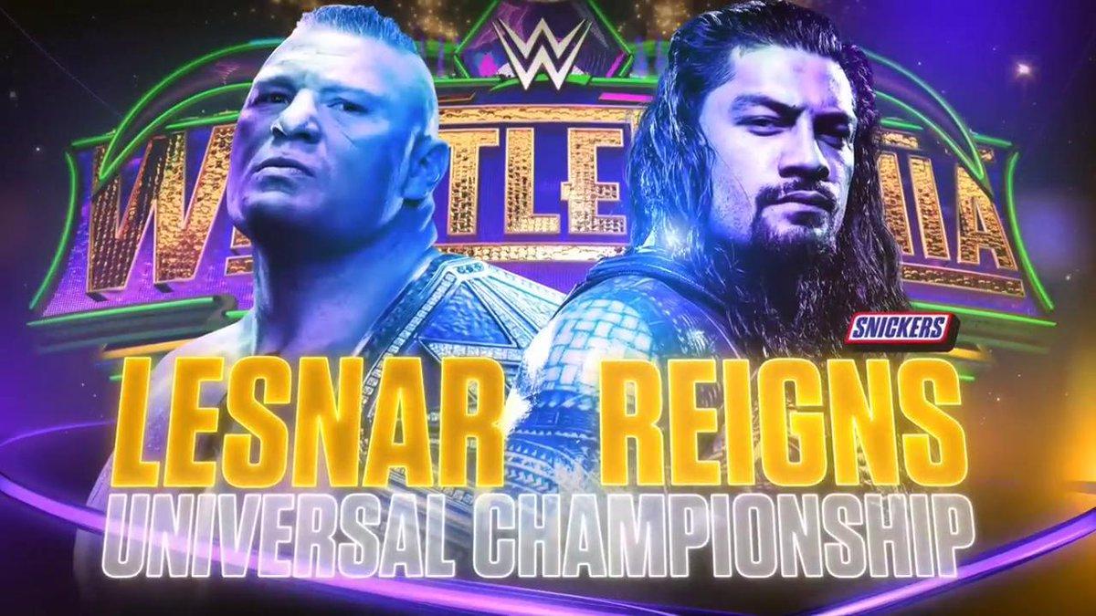 WWE WrestleMania 34: ब्रोक लेसनर ने रोमन रेन्स को सुप्लेक्स सिटी देकर जीता WWE युनिवर्सल चैम्पियनशिप, रोमन ने जीता दिल 8