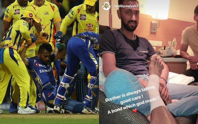 हार्दिक पांड्या को बीच मैच में लगी चोट तो क्रुणाल ने पूरी रात कुछ ऐसे रखा भाई का ख्याल