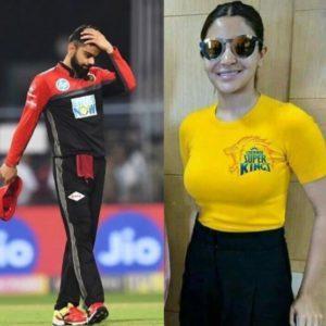 Anushka cheer for dhoni team chennai, see intresting pic