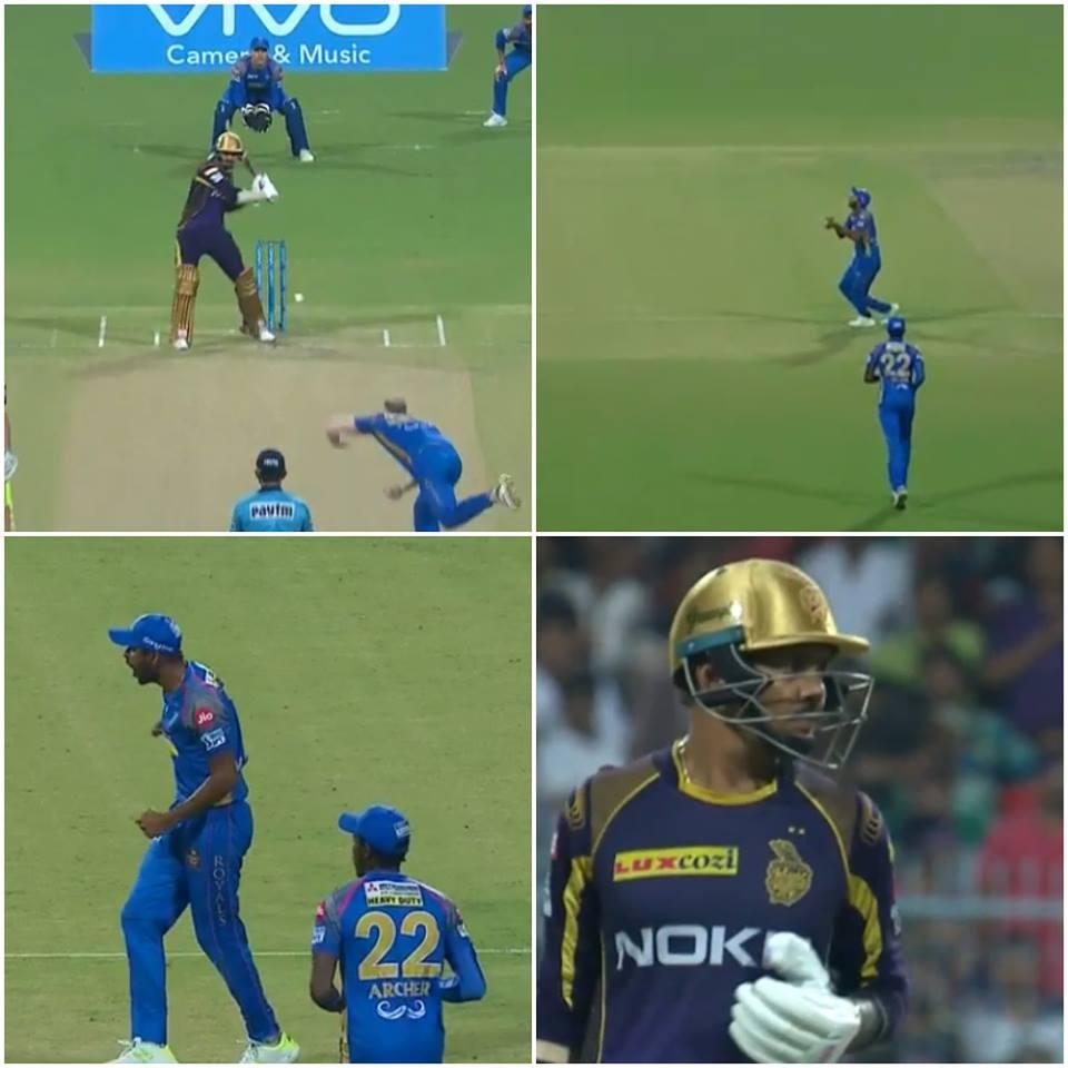 वीडियो: सुनील नरेन का कैच पकड़ने के बाद गौतम ने खोया आपा मैदान पर कर गये ये शर्मनाक हरकत 11