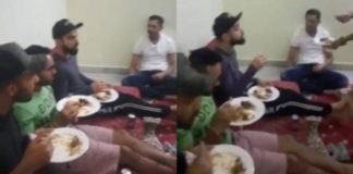 Virat kohli Enjoying Hyderabadi Biryani before today's match