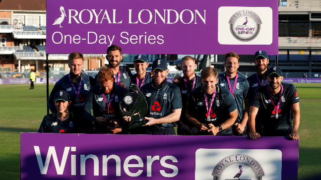 England won the ODI series by defeating India by eight wickets