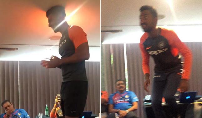 वीडियो: शास्त्री के साथ मिलकर कृणाल और दीपक चाहर की टीम इंडिया ने की रैगिंग, वीडियो हुआ वायरल 8