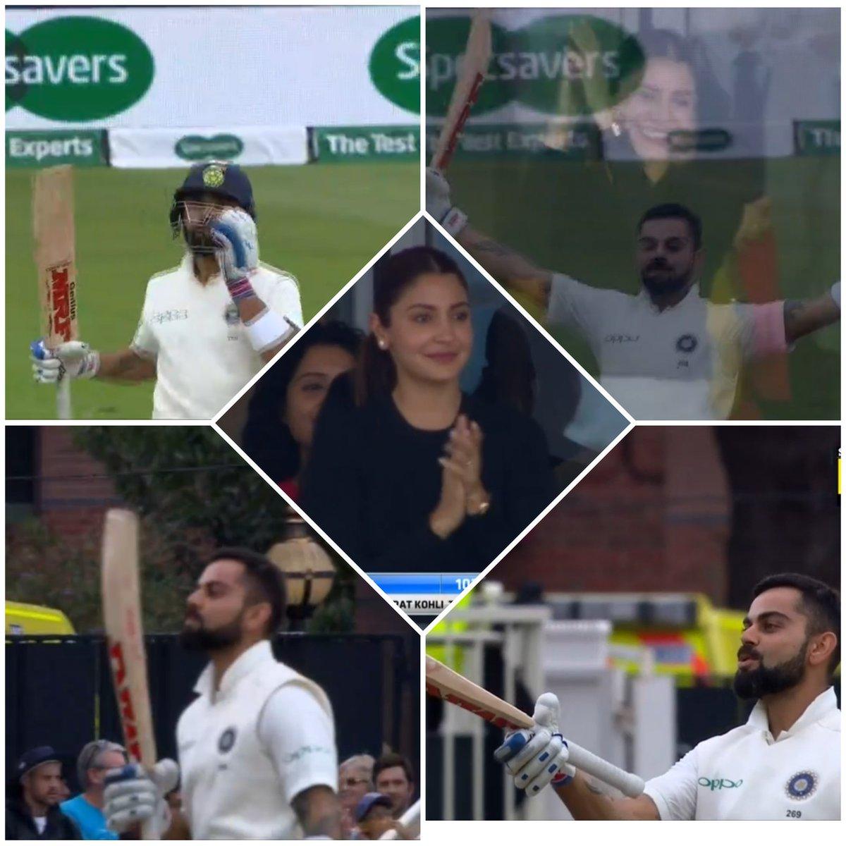 ENG vs IND: विराट ने शतक बनाने के बाद किया कुछ ऐसा, अनुष्का शर्मा को भी आ गई शर्म, देखे वीडियो 13
