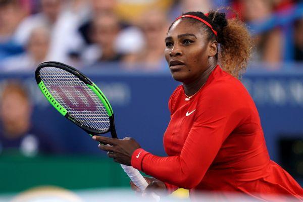 Serena beat Gavrilova in the second round