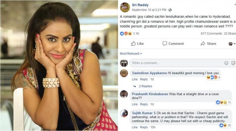 अभिनेत्री श्री रेड्डी ने सचिन तेंदुलकर परा लगाए गंभीर आरोप तो लोगों ने किया जमकर ट्रोल 1