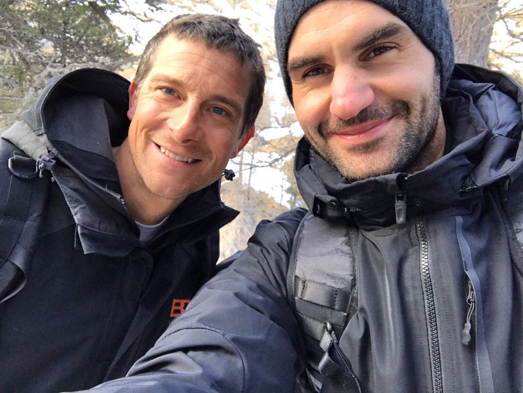 Roger Federer's 'Wild' with Bear Grylls