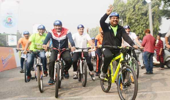 Sridhar, Deborah won the able pedal, Delhi Cyclothon