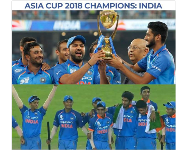 भारतीय जूनियर क्रिकेट टीम के दबंग अंदाज में एशिया कप जीतने पर सौरव गांगुली खुश कही ये बात 5
