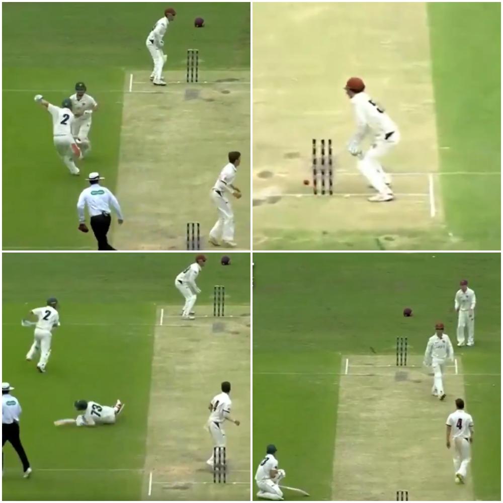 वीडियो : अजहर अली की तरह यह ऑस्ट्रेलियाई खिलाड़ी भी अजीबोगरीब तरीके से हुआ रन आउट 9