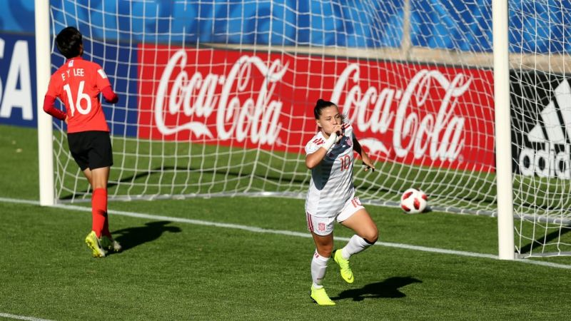 In the women's Under-17 World Cup quarter-finals Spain, Germany, the Korea