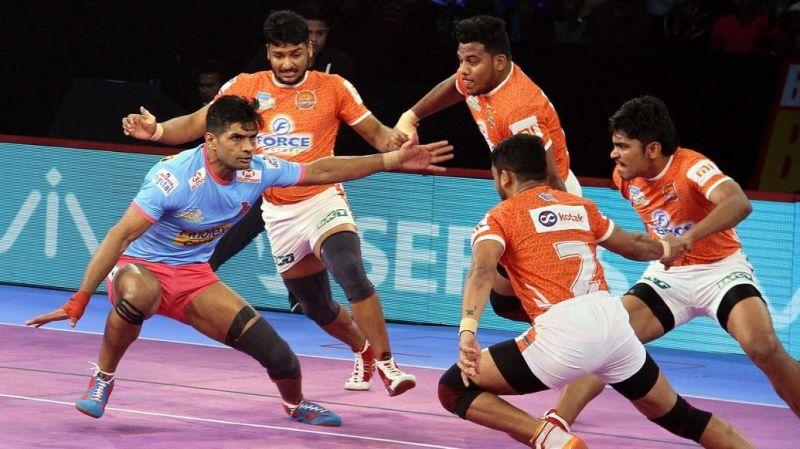 Pro-kabaddi league: Jaipur-Pune match on the match