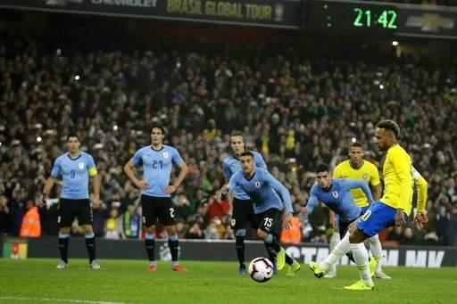 Brazil beat Uruguay in friendly match