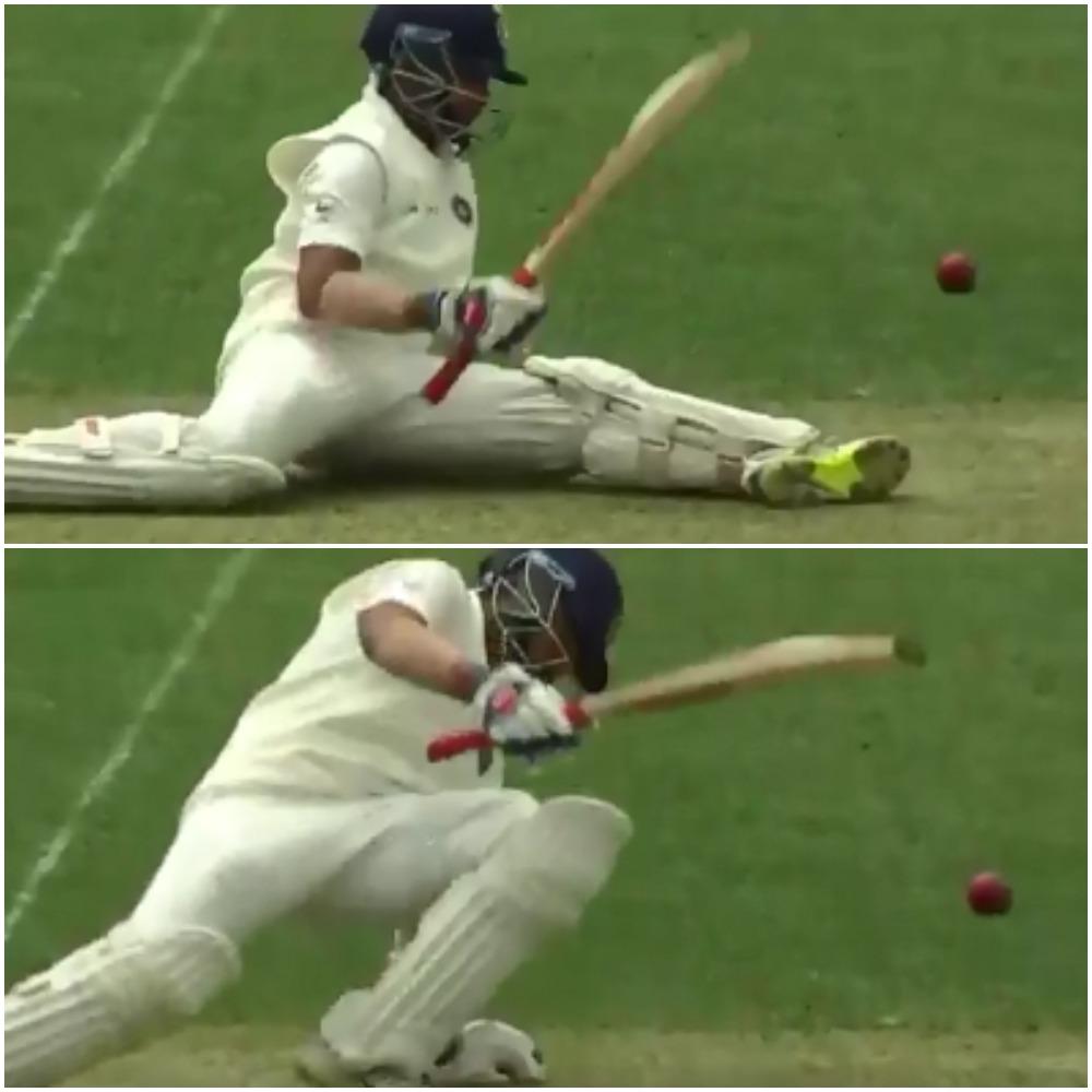 AUSvsIND: ऑस्ट्रेलियाई गेंदबाज की फिरकी पर चक्कर खा कर गिर पड़े पृथ्वी शॉ, देखें वीडियो 1